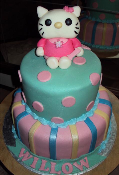Delanas Cakes 2 Tier Hello Kitty
