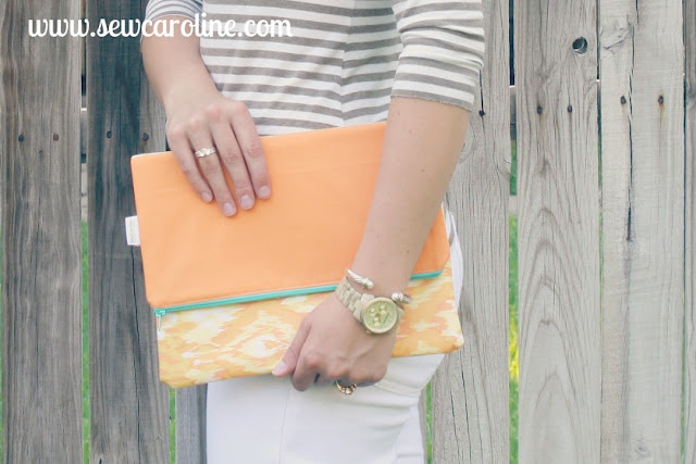 Sewcaroline.com clutch on Storenvy