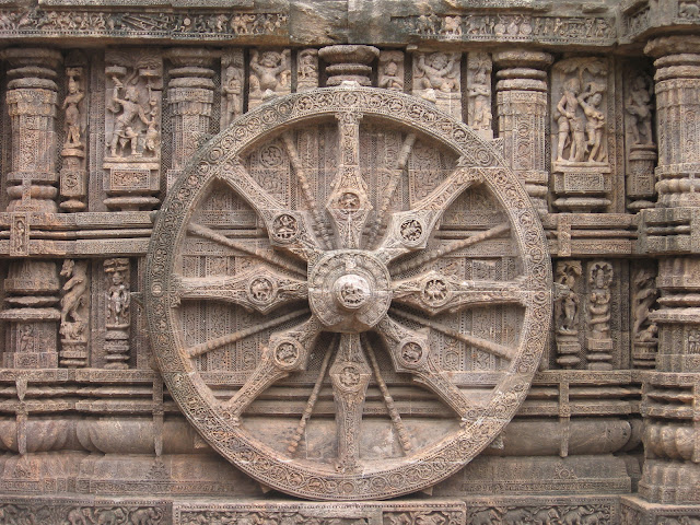 Ornamental wheel of Sun Temple, Konark