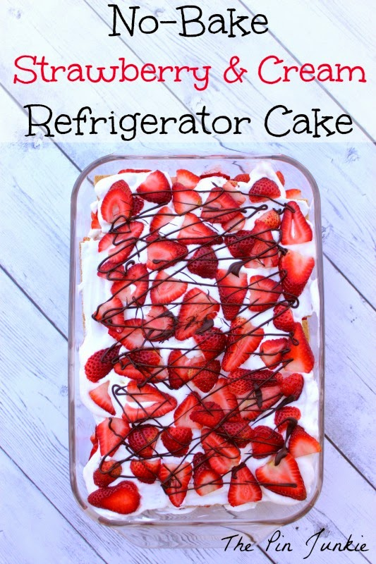 No-Bake Strawberry & Cream Refrigerator Cake