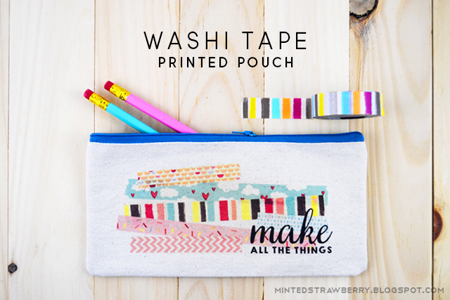 Washi Tape Crafts diy: washi tape decorated pouch + washi tape crafts book review