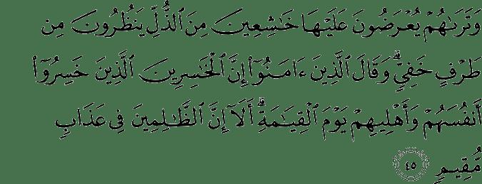 Surat Asy-Syura ayat 45