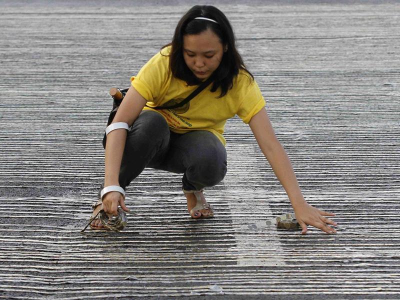Dunia Guinness Rangkaian Koin Terpanjang Di Quirino Grandstand Manila