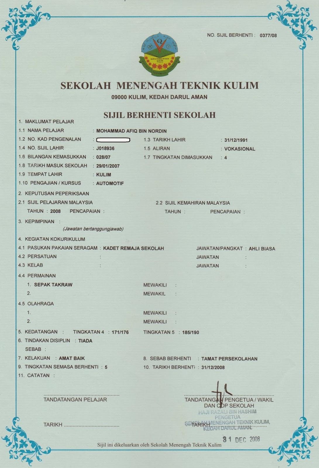 AfiqDin my certificates