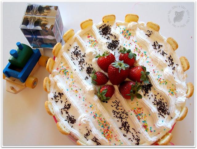 torta panna e fragole senza proteine del latte