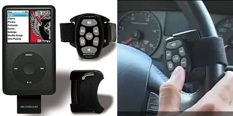 Wireless Car Steering Wheel RF Remote Control for iPod