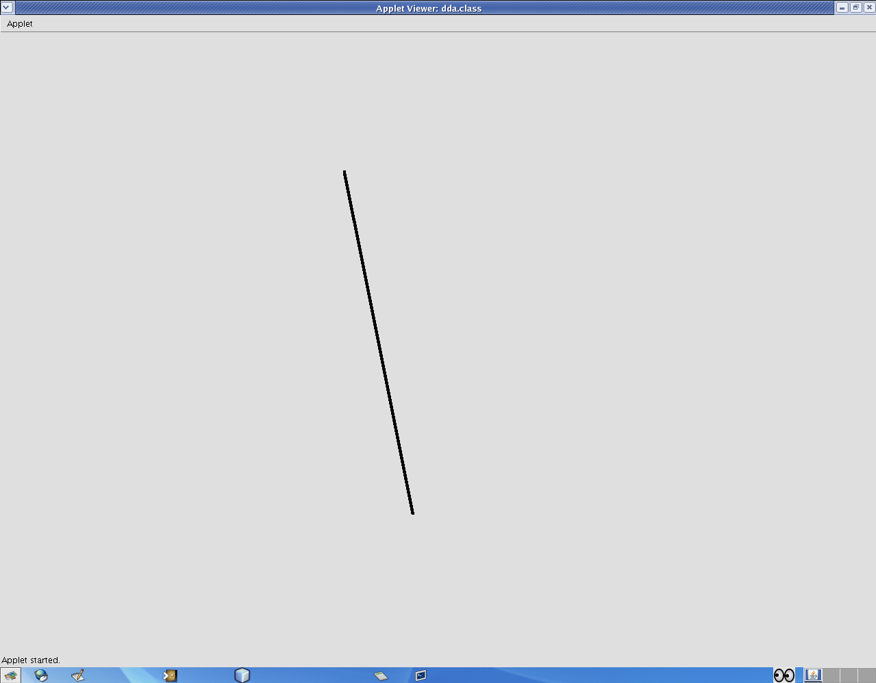 Bresenham S Line Drawing Algorithm In Java Applet : World of codes implementation dda line drawing algorithm