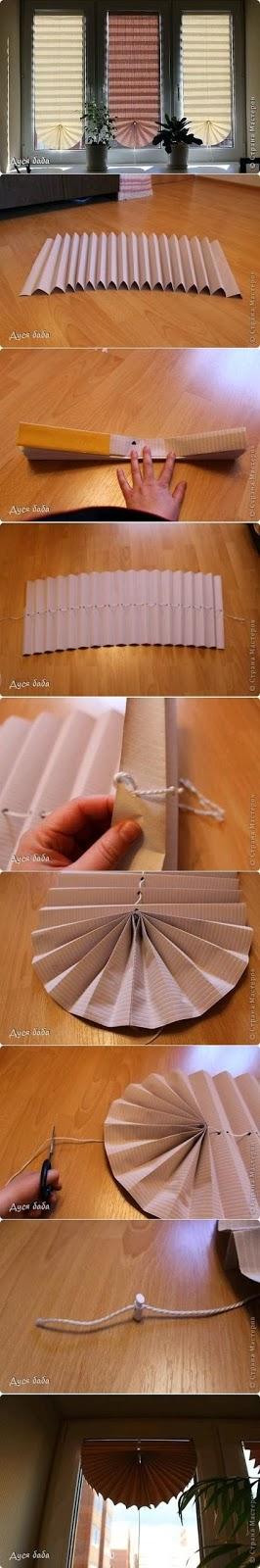 como fazer uma persiana com papel