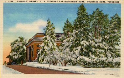 Library history buff blog libraries in the snow on postcards for Mountain house library