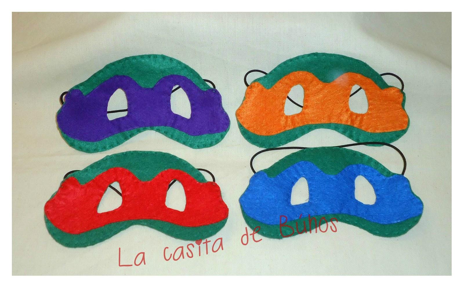 Máscaras de tortuga ninja en fieltro
