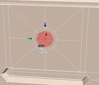 Realizando un inset en polígonos en 3ds max.