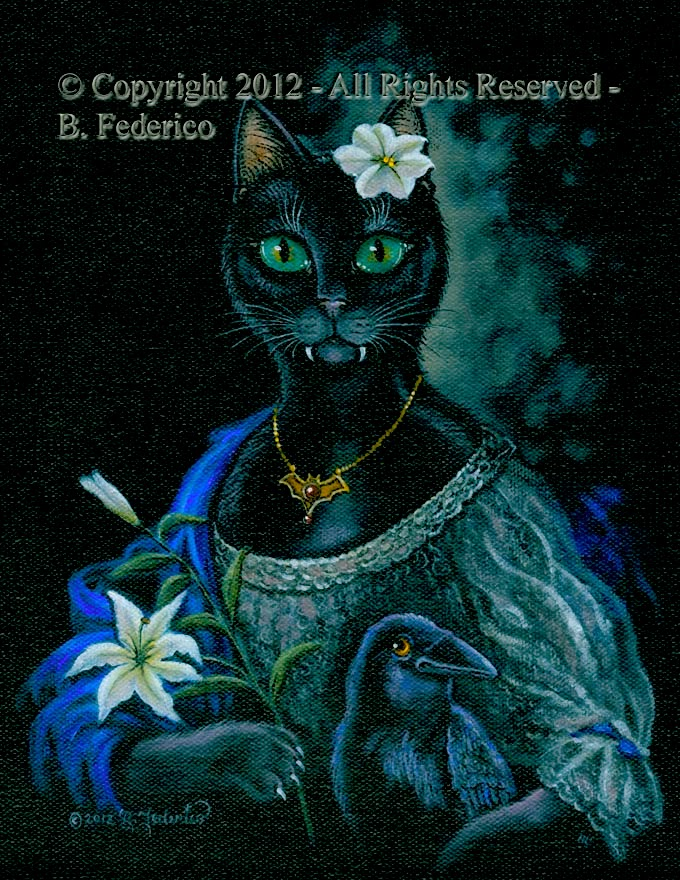 Fantasy Cat Oil Painting