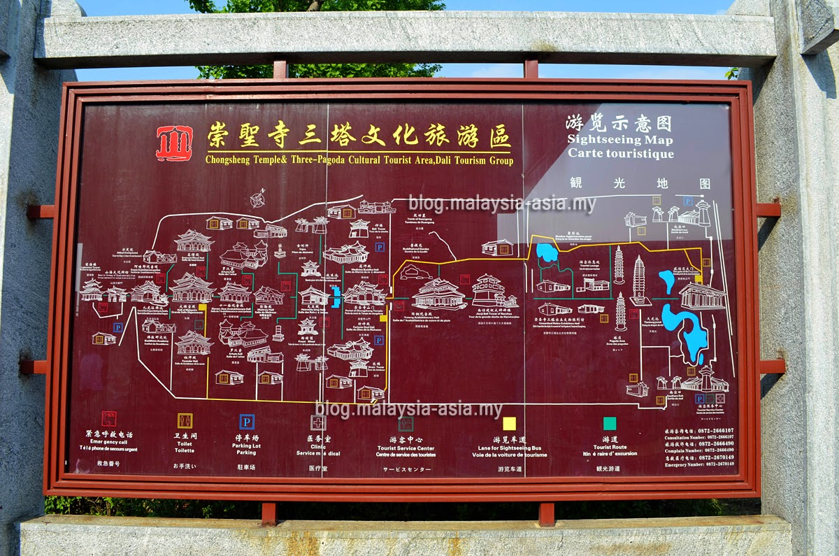 Map of The Chongshang Temple in Dali