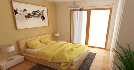 warna kamar tidur yang membuat ruangan kecil menjadi