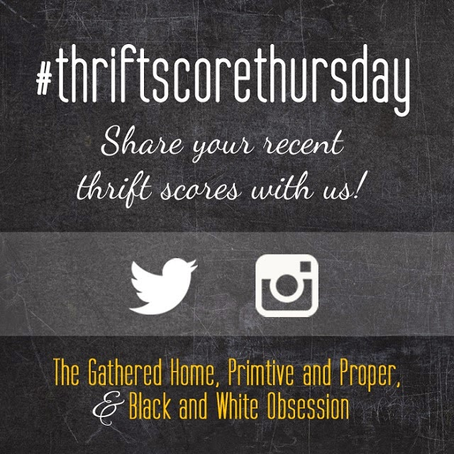 #thriftscorethursday Week 37   Trisha from Black and White Obsession, Brynne's from The Gathered Home, Cassie from Primitive and Proper, and Guest Poster: Corinna from For My Love Of