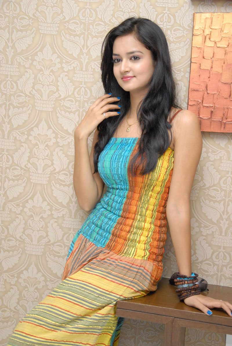 Lovely Heroine Sanvi Cute Photo Shoot Stills
