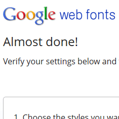 google web fonts homepage
