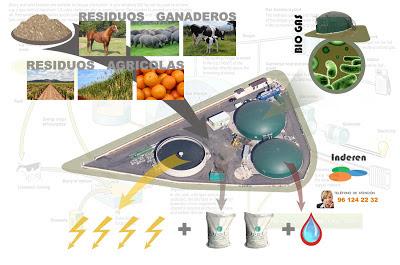 biodigestores aprobechamiento de residuos organicos INDEREN valencia