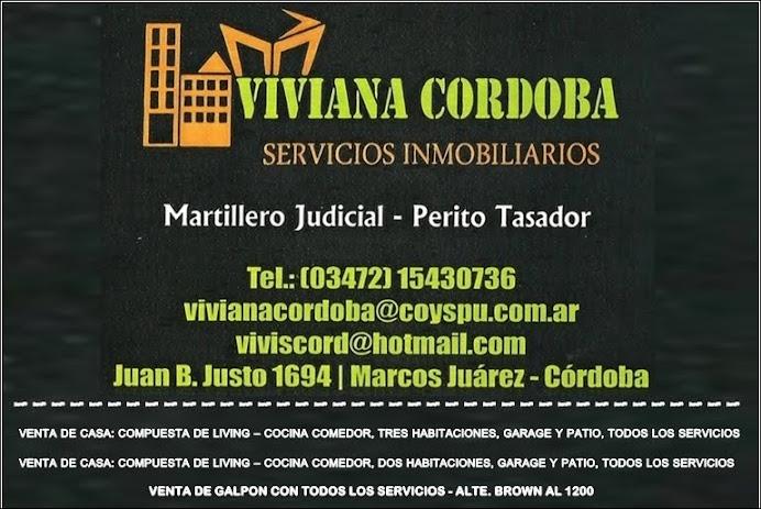 ESPACIO PUBLICITARIO: VIVIANA CORDOBA SERVICIOS INMOBILIARIOS