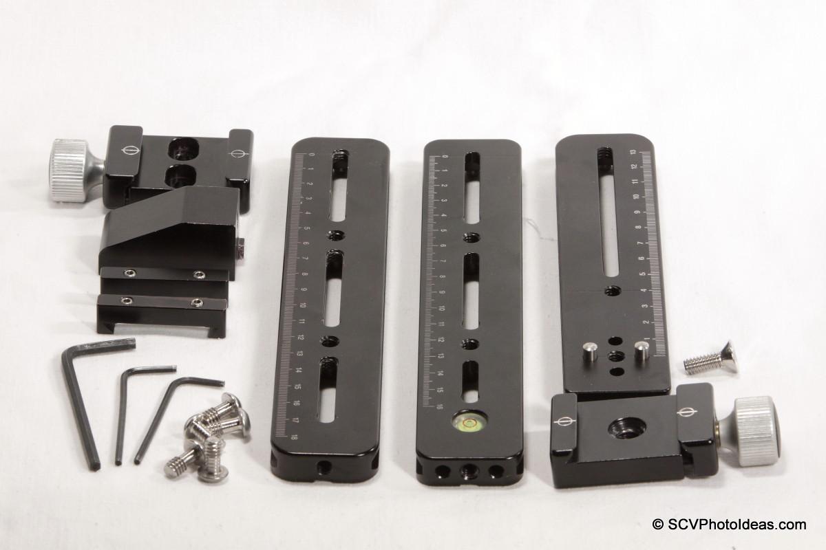 Multi Row Panorama Head Ver. II components & tools