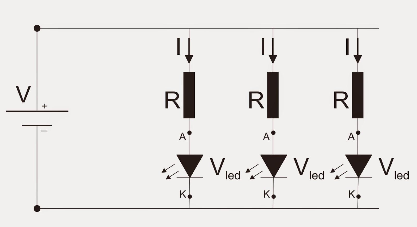 Circuito Paralelo : Maquetas modelos calculo de resistencias para circuitos con led