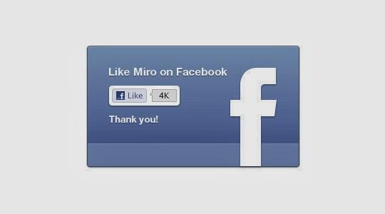 Facebook like UI PSD