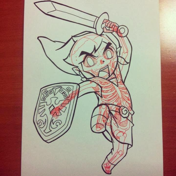 08-Link-Chris-Panda-X-ray-Comics-Cartoons-Pin-up-Illustrator-www-designstack-co