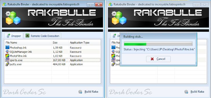 Rakabulle, Advance File Binder from DarkComet RAT Developer
