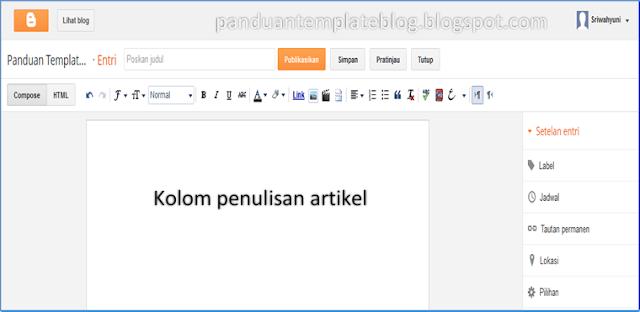 Cara Membuat Mengisi Artikel Blog