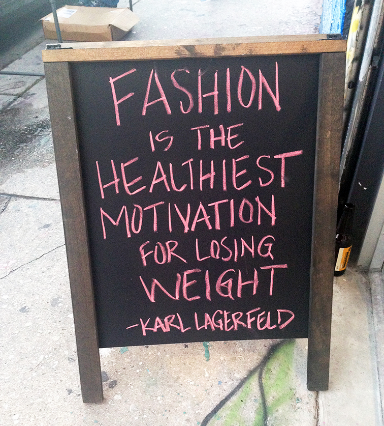 Fashion Over Reason at Miami Art Basel 2014 MBAB, Karl Lagerfeld quote