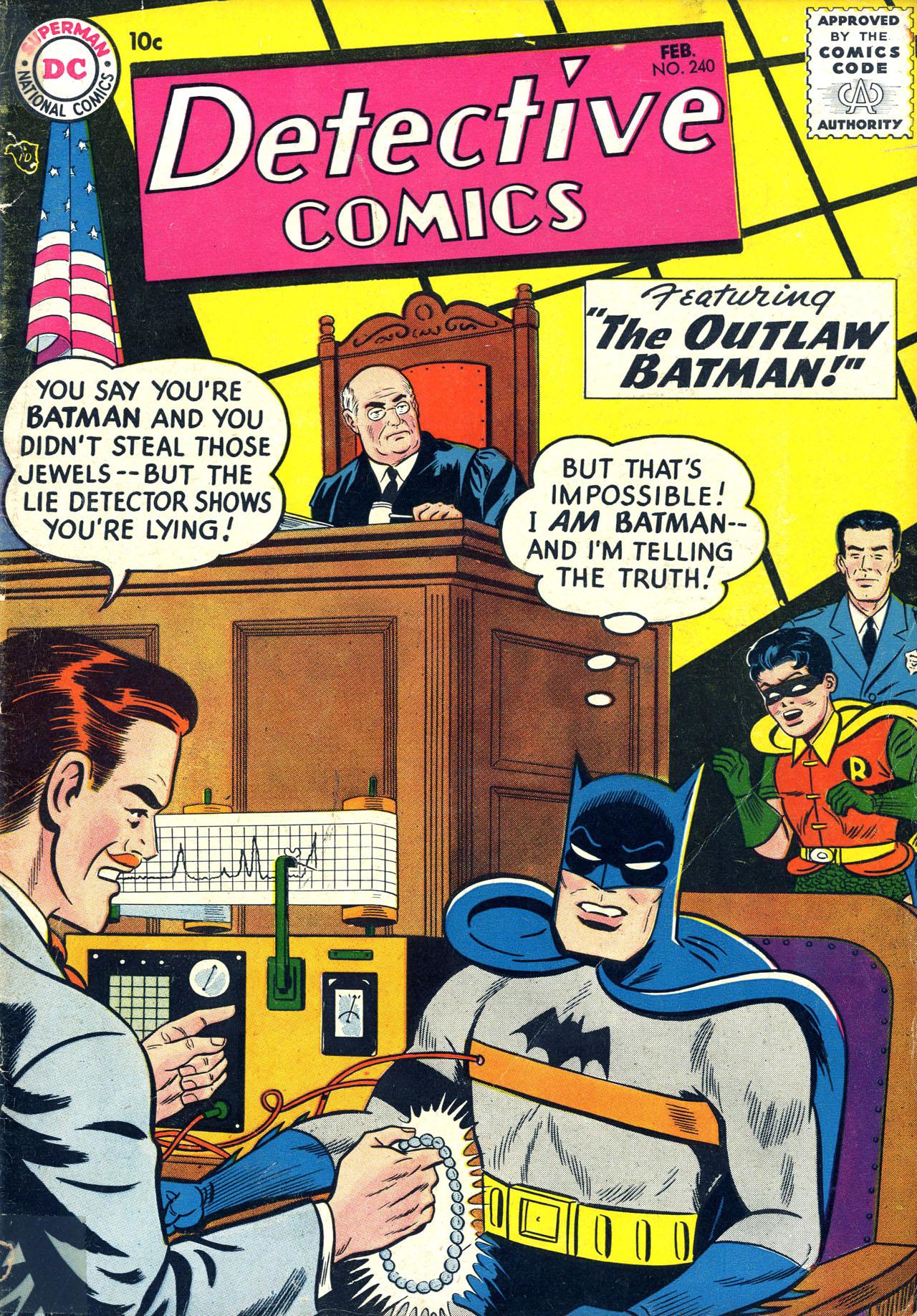Detective Comics (1937) 240 Page 1