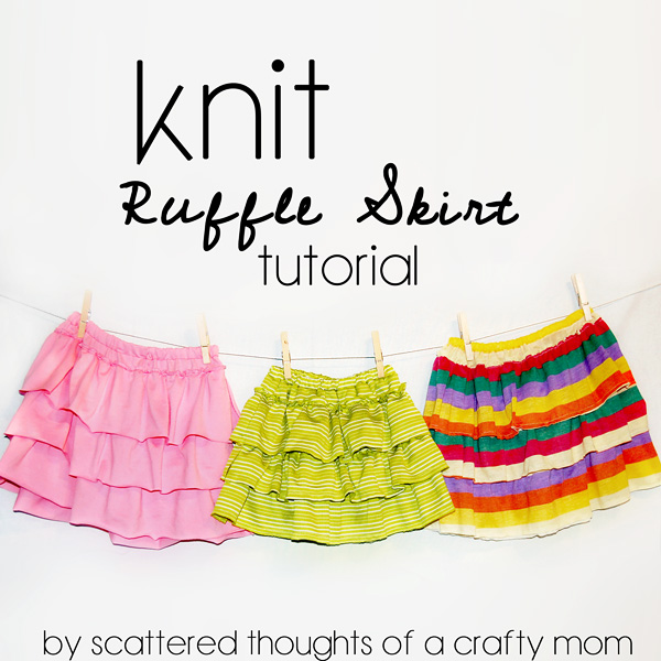 knit ruffle skirt