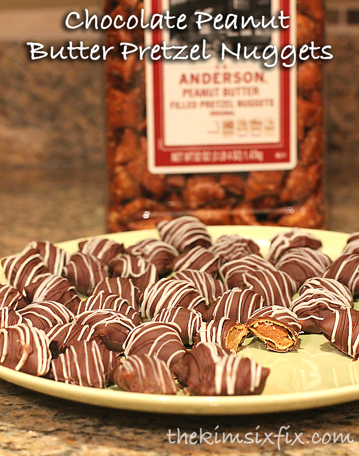 Chocolate Peanut Butter Pretzel Nuggets | The Kim Six Fix