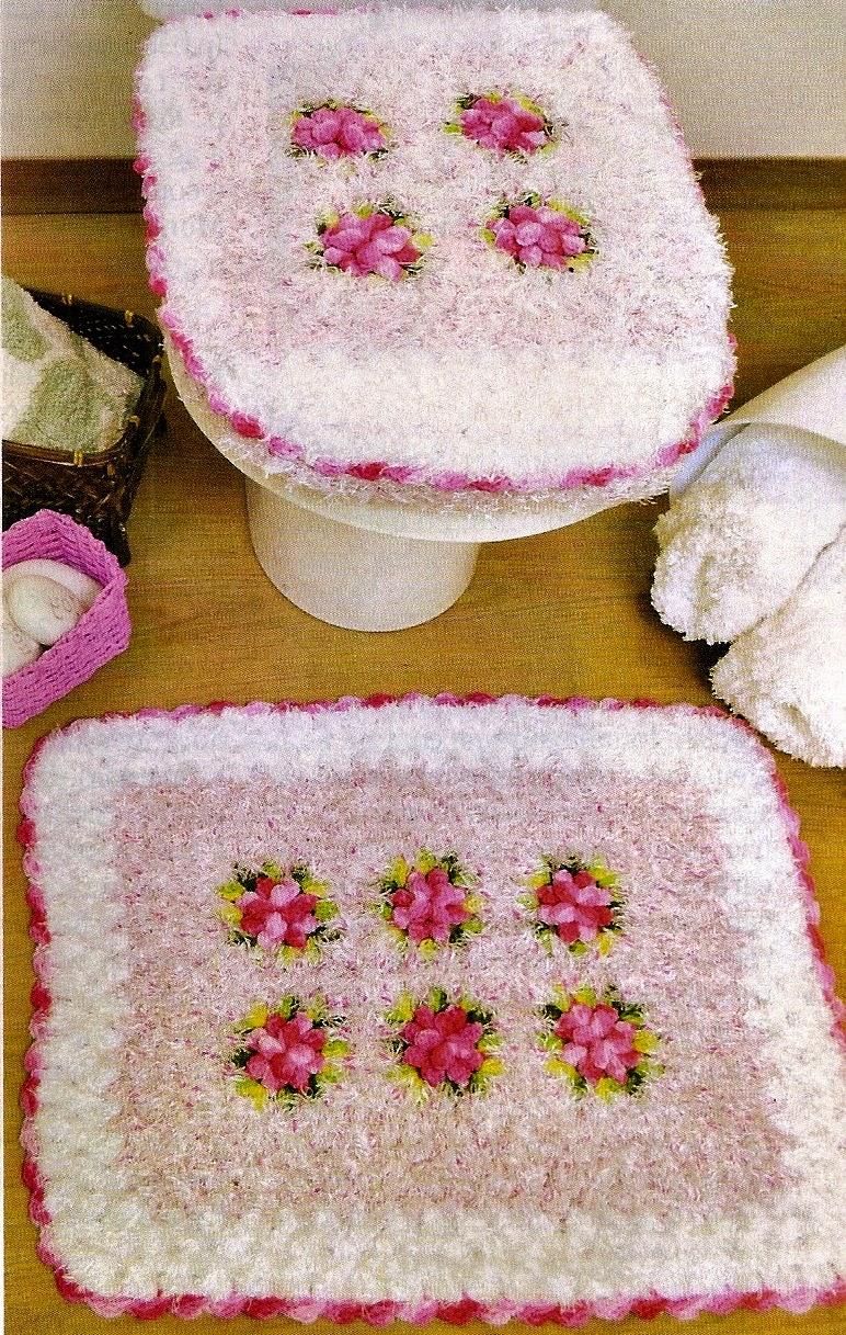 tapetes em croche banheiro jogos em croche com receita blog