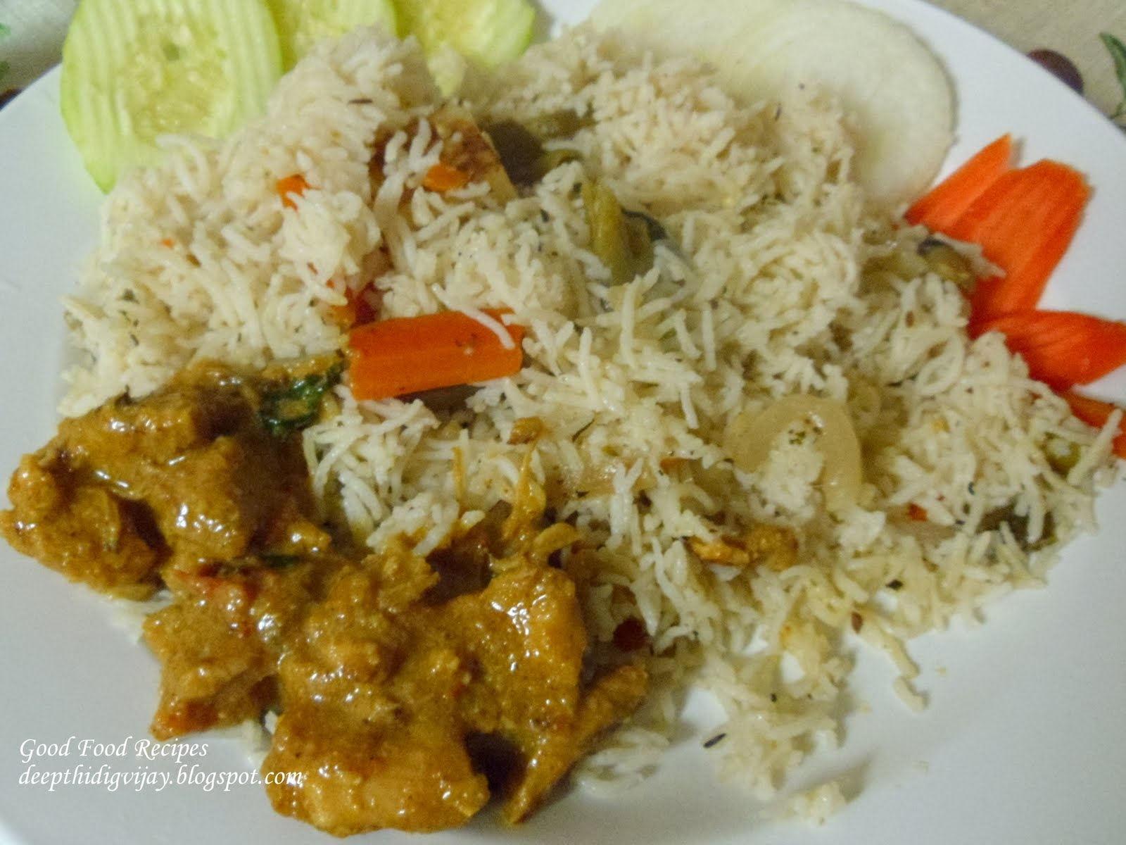 Good Food Recipes: Chicken- Coconut milk Curry