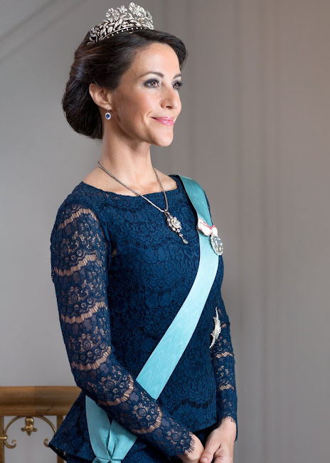 The Danish Royal Court has released new official photos of HRH Princess Mary of Denmark and HRH Prince Joachim of Denmark in connection with The Queen's 75th birthday