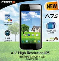 HP Android Cross Terbaru A7S | Cross A7s Dual Core/3G/ 1jutaan - Opoae
