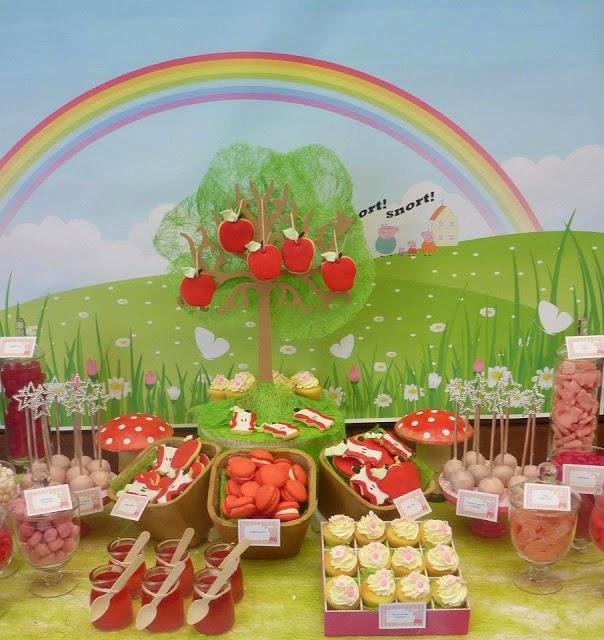 Decoración de Fiesta Infantil de Peppa la Cerdita