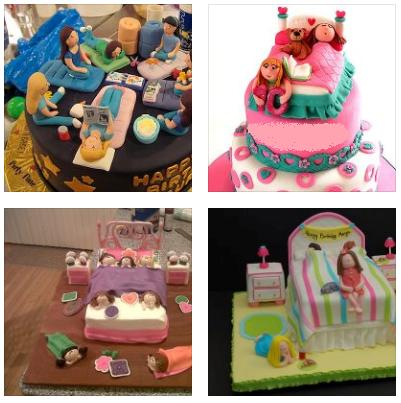 Being Frugal and Making It Work Slumber Party Birthday Cake Ideas