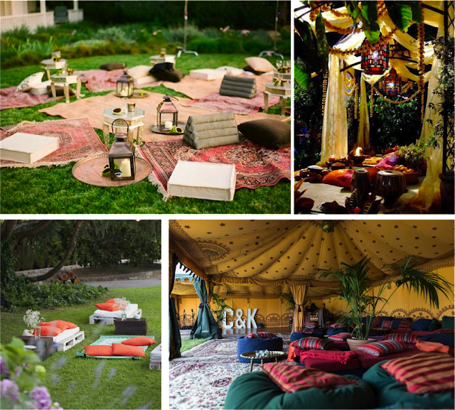Un rincón chill out boho-chic para bodas y eventos