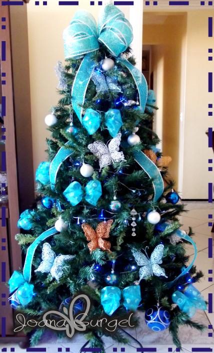 decoracao arvore de natal azul:Postado por Milena Praieira às 06:32