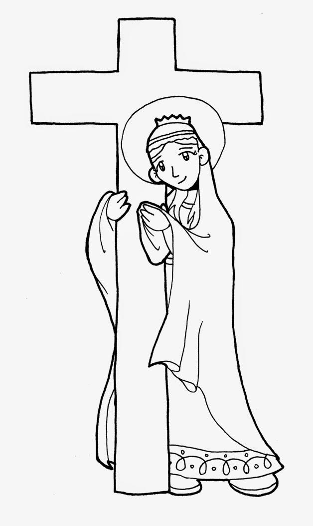 Dibujos para catequesis: SANTA ELENA