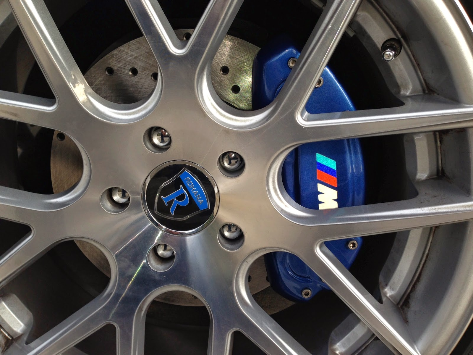 Caliper covers for bmw 535 540 550