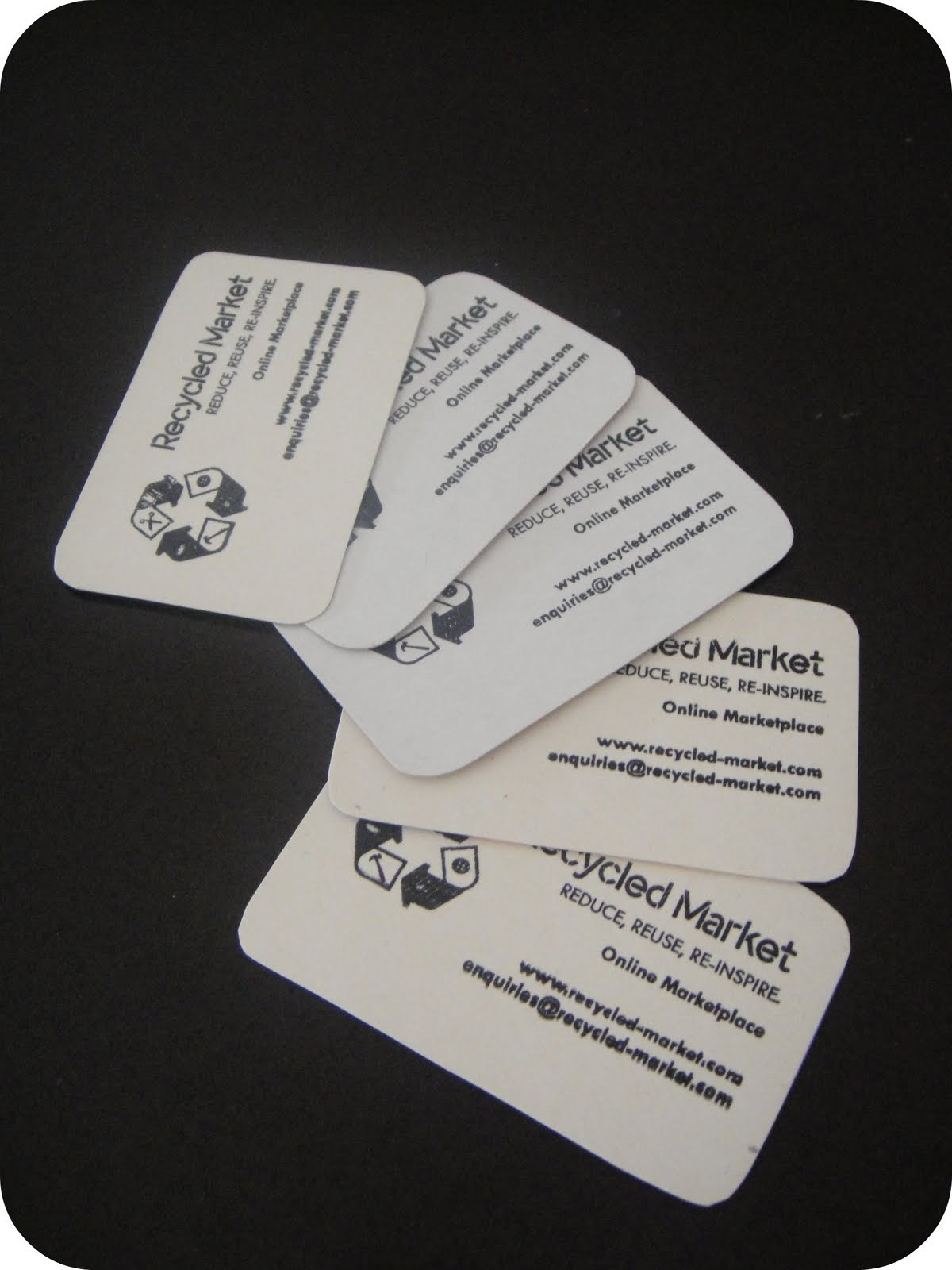 Recycled market recycled market business cards ready reheart Gallery