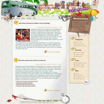 Savor Your Sightseeing blogger template. converted WordPress to Blogger template. template blog for music