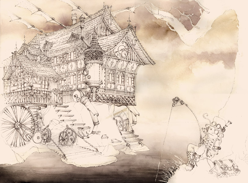 steampunk landscape by grimdreamart - photo #38
