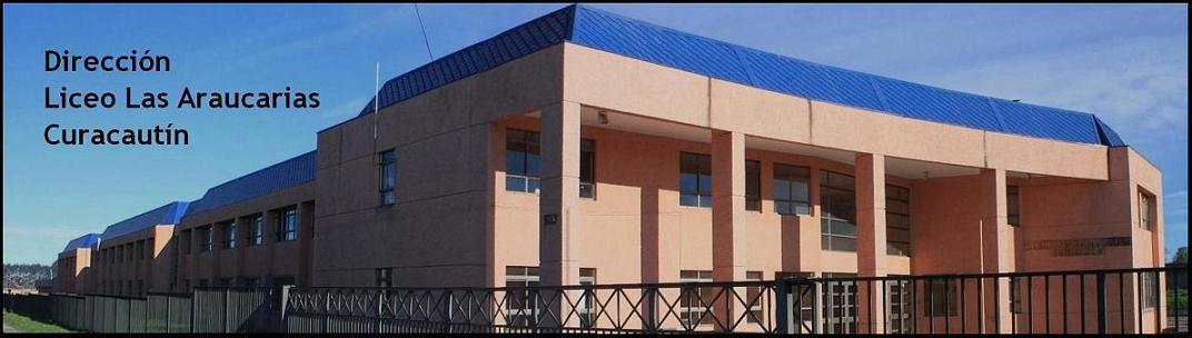 Dirección. Liceo Las Araucarias. Curacautín