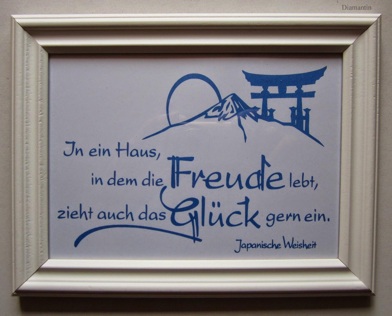 Diamantin´s Hobbywelt: Spruch-Bilderrahmen