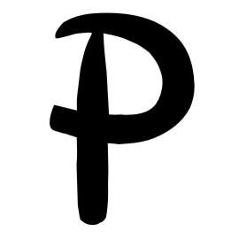 letra p: