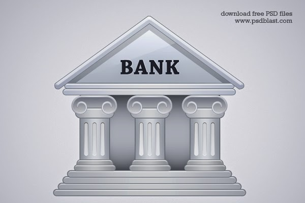Bank Building Icon PSD